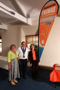 The Deputy Mayor, Councillor Stewart Young, and his mother Mrs Ann Young