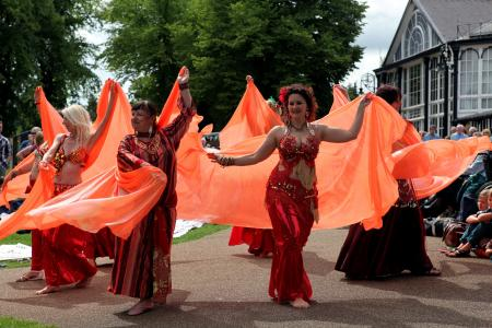 Belly Dance Flames (credit Ian J. Parkes)