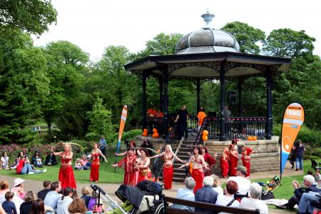 Belly Dance Flames by the Bandstand (credit Ian J. Parkes)