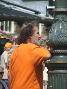 John Wilson, former Fringe chair, looks on