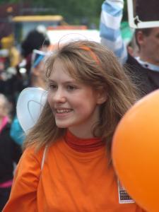 Annie in orange