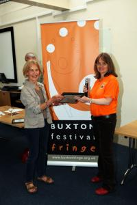 Patty Hoskin collects the Film Award for Buxton Film's Open Shorts