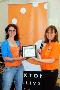 Maria Carnegie of Buxton Drama League wins Street Theatre Award for Shakespeare's Jukebox