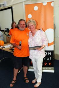 Jenny Davies receives the Artist Award