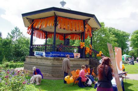 The Bandstand is the stage for the day.