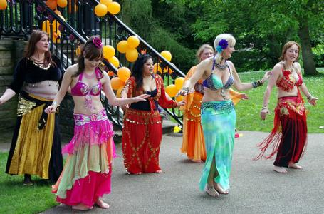 Belly Dance Flames in formation