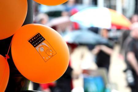 balloons and umbrellas