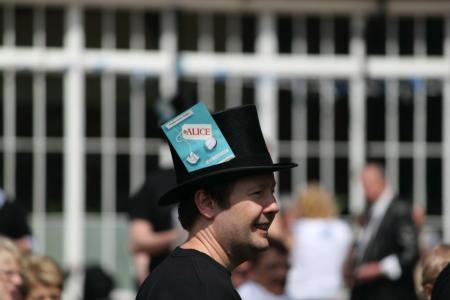 A Mad Hatter goes walkabout