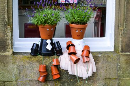 Flowerpot newly weds (credit: Lily Brown)