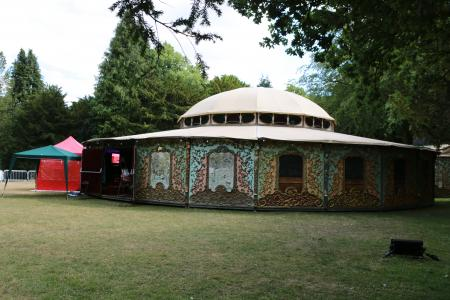 The brand new Spiegeltent in the Pavilion Gardens (credit: Ian J. Parkes 2018)