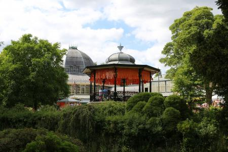 The Fringe-ified Bandstand at the Pavilion Gardens (credit: Ian J. Parkes 2018)