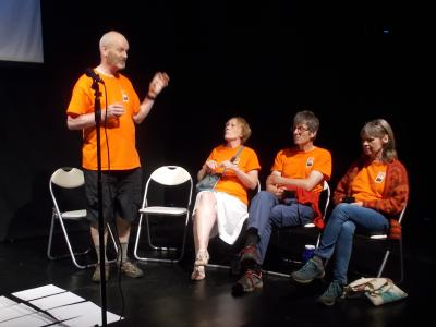 Chair Keith Savage and committee members at the Fringe Forum (credit: Sam Slide 2018)