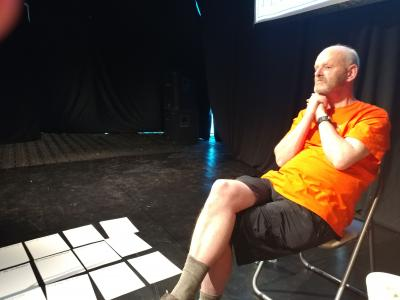 Fringe chair Keith Savage in pensive mood at the Fringe Forum (DO)