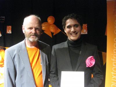Fringe chair Keith Savage with Adrien Mastrosimone from the award-winning Une Vie en Rose (credit: Dan Osborne 2018)