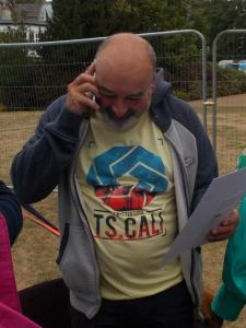 Simon Winterman phones up Jack Brosnan to tell him the good news! (credit: Sam Slide)