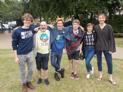 The jubilant Sudden Impulse team after the awards (credit: Sam Slide)