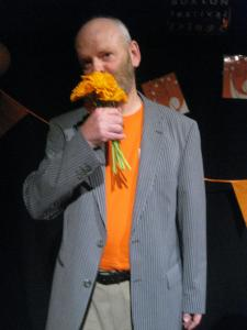 It's the end of the awards and Keith has his thank you bouquet (sort of!) (DO)