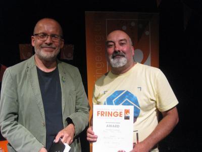 Simon Winterman of Sudden Impulse picks up the Male Actor award on behalf of Jack Brosnan (DO)
