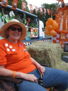 Linda on the float