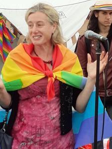 MP Ruth George at Buxton's Gay Pride Picnic (credit: Keith Savage 2019)