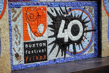 Detail from the fabulous well dressing in our honour (credit: Dave Upcott 2019)