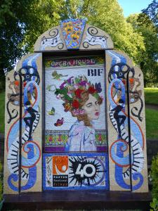 The beautiful well dressing in honour of 40 years of the Fringe and Festival (credit: Dan Osborne 2019)