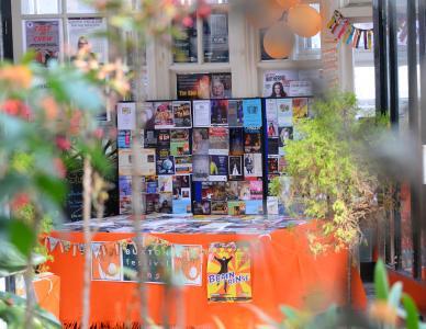The verdant (and orange obviously) Fringe Desk (credit: Dave Upcott 2019)