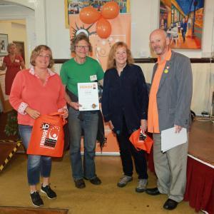 Danielle Banks, Gill Boardman and Madeline Hall of Serpentine Community Farm win Spirit of the Fringe at Fringe40 (credit: Ian J. Parkes)