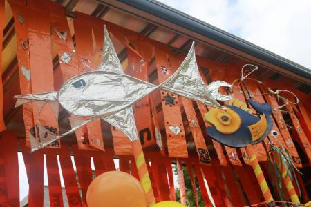 Something fishy on the Fringe40 carnival float (credit: Ian J. Parkes 2019)