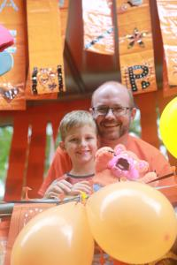 A perfect carnival day! Scott Allsop and his son Edward at Fringe40 (credit: Ian J. Parkes)