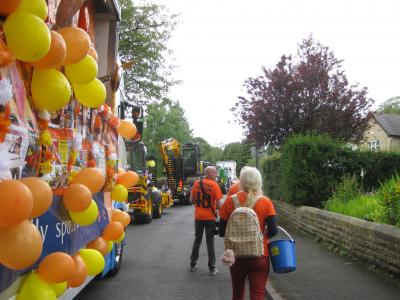 Collecting for the Well Dressing charities