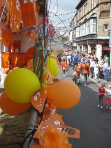 Heading through the town on the float (credit: Stephanie Billen 2019)