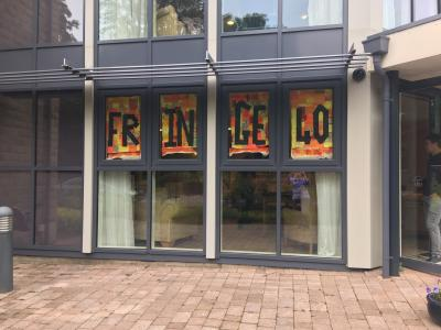 The Fringe40 banner in situ - a landmark on London Road. (credit: Linda Rolland)