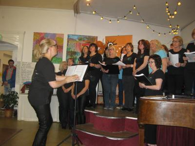 The League of Ladies choir at the Fringe40 programme launch (credit: Stephanie Billen 2019)