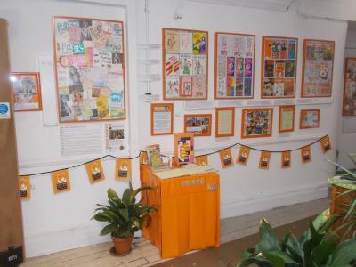 Displays from the Fringe40 Archive exhibition (credit: Sam Slide 2019)