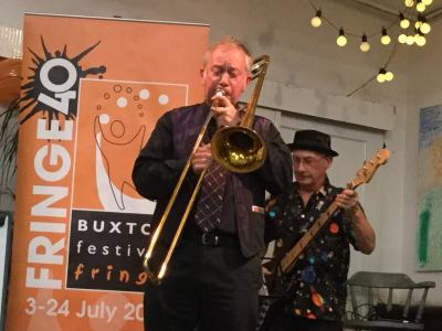Sam and his trusty trombone