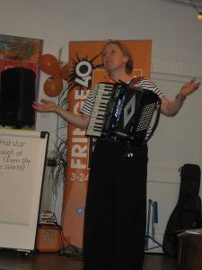 Musician and comedian Hattie Hatstar