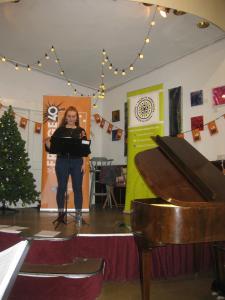 Rebecca Mottershead rallies the singers.