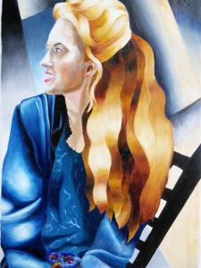 Annie after Tamara de Lempicka (credit: Stephanie Osborne)