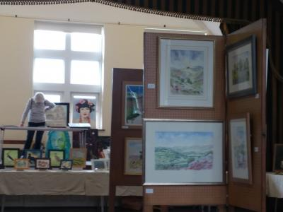 A wide variety of art on display at Burbage Art Group's annual exhibition