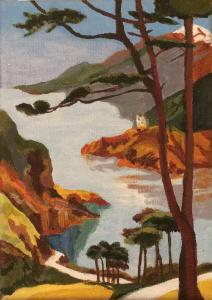 A Corsican landscape, acrylic on canvas (credit: Jane Barson)