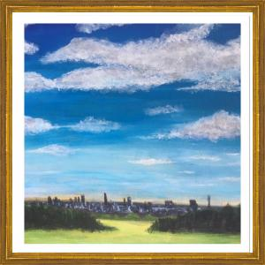 View of London from Primrose Hill, acrylic (credit: Jane Barson)