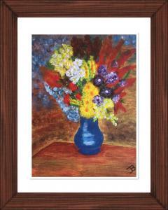 Vase of flowers, acrylic (credit: Jane Barson)