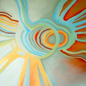 Louise Jannetta, Horizon, oil on canvas, 100 x 100 cm. (2020)