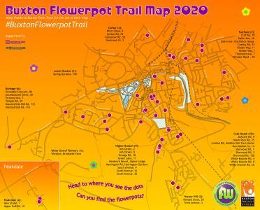 Buxton Flowerpot Trail 2020 map (Fringe version)