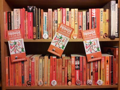 A bookcase goes to the Fringe (credit: Maria Carnegie)