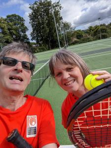 "The webmaster and marketing officer say ""Anyone for Fringe tennis?"""