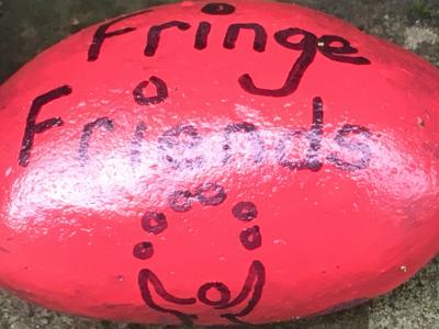 A Fringe Friends rock joins in.