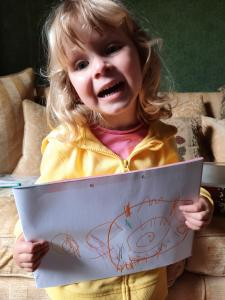 ...Amber also did a picture to cheer Floella up! (She's not quite old enough for a poem just yet!)