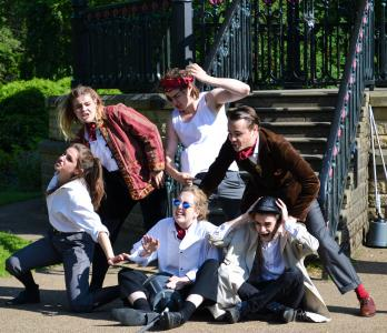 Curious Grin Productions perform Around the World in 80 Day 2015 (credit: Lily Brown)